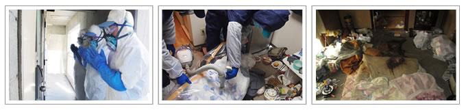 特殊清掃作業写真